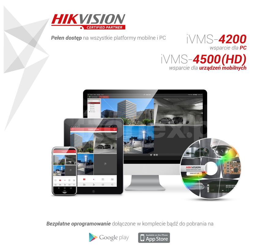 Oprogramowanie kliencie iVMS-4200 / iVMS-4500 HIKVISION - pełny dostęp na wszystkie platformy mobilne iPC.